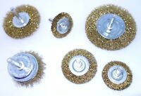 6PC. WIRE WHEEL BRUSH AND CUP SET DRILL CAR RUST METAL PAINT F.U.M. TOOLS FUM