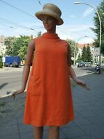 Frottee Strandkleid 70er Kleid orange Plus Size 46 TRUE VINTAGE space age dress