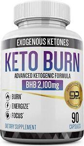 KETO BURN BHB Diet Pills 2100mg 90 Caps Advanced KETOGENIC FORMULA!