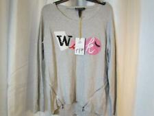 NWT INC International Concept Gray Embellished Wink LS Sweater M & L Org $79.50