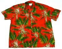 Diamond Head Sportswear Mens XL Floral Hawaiian Shirt Made In Hawaii Christmas