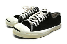 🔴 Vintage 80's CONVERSE Jack Purcell Sneakers Shoes Black Made in USA Size 10