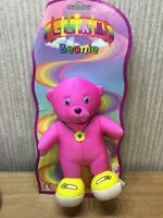 Jellikins Plush Soft Toy Teddy Retro RARE NEW Collectable Retired Pink Coral