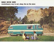 1963 Dodge Motor Home Two-Sided Dealer Sales Brochure