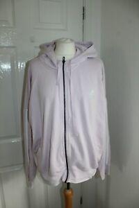 Adidas Ladies Pink Purple Zip Hoodie Size 2XL