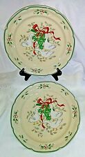 "Set of 2  Marmalade Christmas Dinner Plates -International Tableworks-10 3/4"""