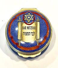 "Judaica Halcyon Days Enamels ""Bar Mitzvah� Trinket Box Bilston & Battersea"
