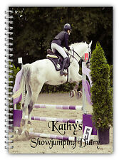 A5 PERSONALISED EQUINE HORSE RIDER SHOWJUMPING COMPETITION DIARY LOGBOOK 50 PAGE