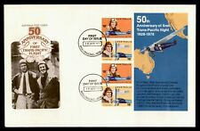 Dr Who 1978 Australia Trans-Pacific Flight 50 Years S/S Fdc C203998