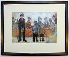 L.S Lowry A DOCTOR'S WAITING ROOM, c.1920  Framed