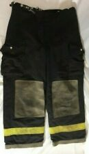 Vintage 2000 Lion Apparel Black Firefighter Turnout Bunker Pants With Liner