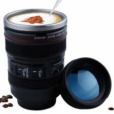 400ml Stainless Steel Camera Lens Mug With Lid New Fantastic Coffee Mugs Tea Cup