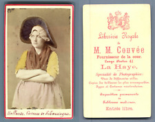 Couvée, La Haye, costume des pays bas Schwebingen vintage carte de visite, CDV