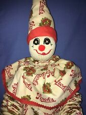 Unique Stroh's Bohemian Beer Print Logo Handmade Clown Doll Drinking Bar Buddy