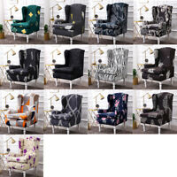 Stretch Wing Chair Cover Slip Cover Wingback Armchair Protector Furniture Covers