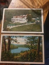 4 White Border Mountain Lake Virginia  Postcards  By Bell Lynchburg  One Posted