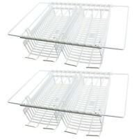 UNIVERSAL Fridge Freezer Shelves x 2 + Under Shelf Storage Racks Baskets x 4