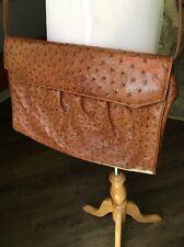 Gucci Vintage Ostrich Cross Body Bag