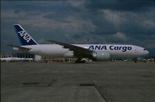 ZRH15  Original aircraft slide/Dia  ANA Cargo B777 JA772F