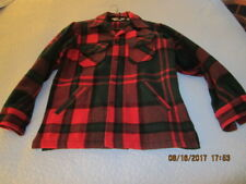 Preowned Vintage Men's Size Small Medium L.L. Bean Red & Green Heavy Wool Shirt