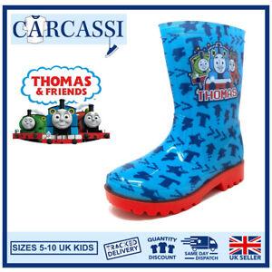 Kids Thomas & Friends Wellies Childrens Boys Blue Wellington Rain Snow Boots