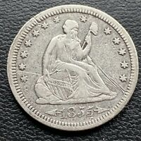 1855 Seated Liberty Quarter 25c Better Grade XF Details #30436