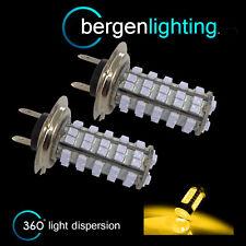 2X H7 GIALLO 60 LED FARO ANTERIORE FANALI LAMPADINE KIT AUTO XENON HL500303