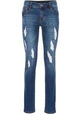 Neu Stretch-Jeans mit Destroyed-Effekten und Glitzersteinen, 968367 in Blau 36