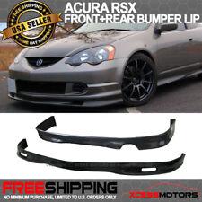 Fits 02-04 Acura RSX SPOON Front + Rear Bumper Lip Spoiler 03