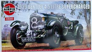 BENTLEY 4.5 Litre Supercharged Le Mans race car plastic kit  AIRFIX 20440V 1:12