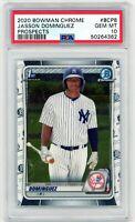 JASSON DOMINGUEZ 2020 Bowman Chrome Rookie Card RC PSA 10 Gem Mint #BCP8 Yankees