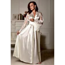 US Sexy Lingerie Women Silk Lace Robe Dress Satin Nightdress Nightgown Sleepwear