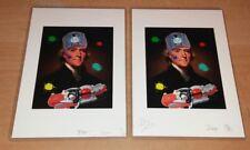 RARE!! DEATH NYC ltd ed signed art print + MISSING PIECE same print ERROR 21×15