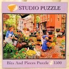 Bits And Pieces Sidewalk Flower Sale 1500 piece jigsaw puzzle Susan Brabeau