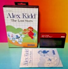 Alex Kidd Lost Stars - SEGA SMS Master System Rare Game Tested Almost Complete