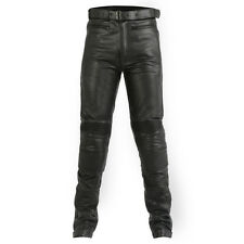 Mens Quality Cowhide Leather Motorcycle Touring Jeans / Trousers