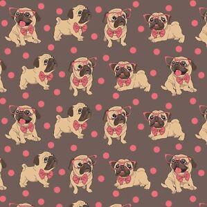 Cute Pug Dog Gift Wrap Sheet,Cute Pug Wrapping Paper