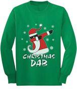 Dabbing Santa Christmas Dab Funny Xmas Youth Kids Long Sleeve T-Shirt Gift Idea