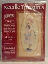 Needle Treasures Crewel Embroidery Kit Mandy 00559 1982 Jan Hagara Design Girl
