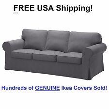 Ikea EKTORP Three (3) Seat Sofa Slipcover Cover NORDVALLA DARK GRAY New! Sealed!