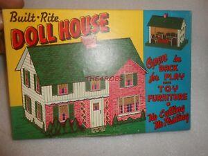 Unused Vintage Warren Built Rite Doll House With Furniture in Original Box
