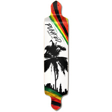 Yocaher Drop Down Longboard Deck - Palm City Rasta
