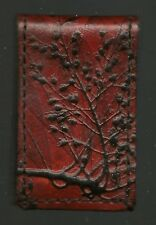 """Branches and Leaves"""" Great Condition Leather Magnetic Money Clip """"Tree"""