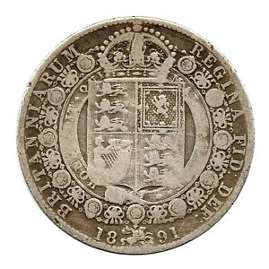 KM# 764 - Half Crown - 2&1/2 Shillings - Victoria - Great Britain 1891 (F)