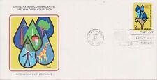 (OP-10) 1977 UN FDC 13c UN water conference UN (certified) (A)