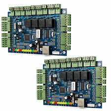 2pcs TCP/IP Network 4-Door Entry Access Controller Board Panel 12V 3A Hot Sale