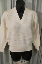 VINTAGE  ~ SLADE ~ Cream Wool JUMPER * Size 10 *