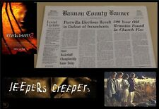 Jeepers Creepers 2 Movie Prop Bannon County Newspaper