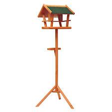 PawHut  Mangeoire sur pied nichoir a plateau station a oiseaux bois pour