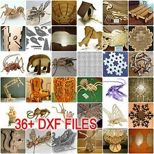3D PUZZLE MORE THAN 36+ DXF files COLLECTION for CNC ROUTER & LASER CUTTING D002
